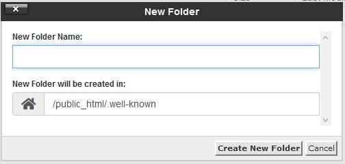zerossl creating folder in cpanel