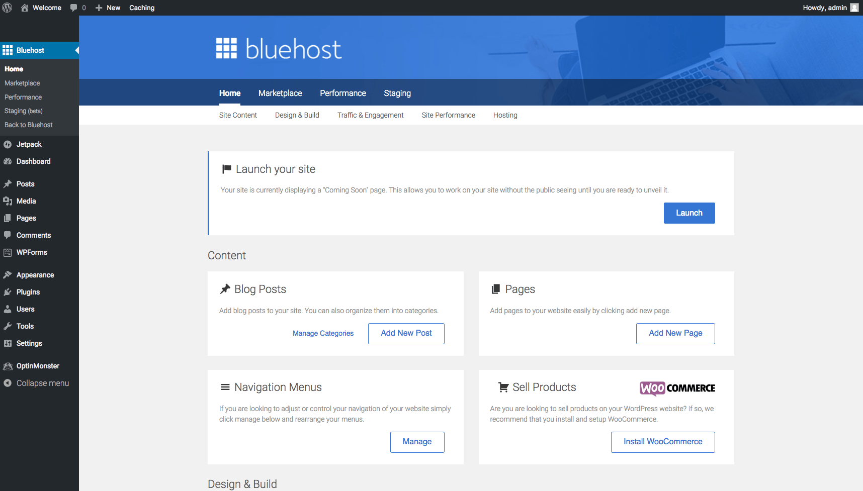 bluehost-wordpress-launch-site