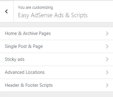 Easy Adsense Ads