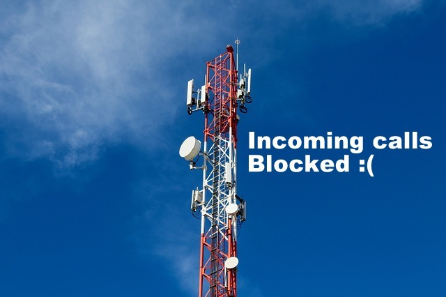 Indian telecom incoming calls blocked
