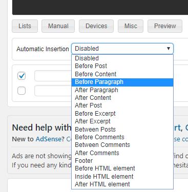 Ad Inserter WordPress Plugin
