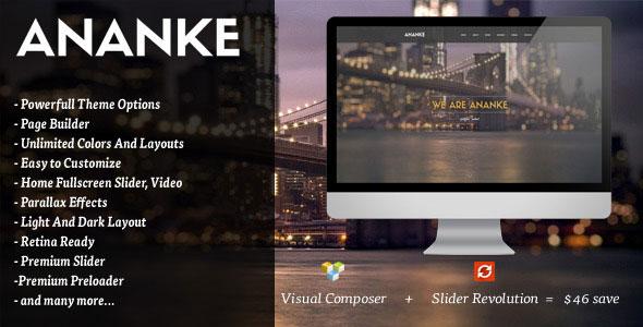 wplocker-Ananke v3.7.0 - One Page Parallax WordPress Theme