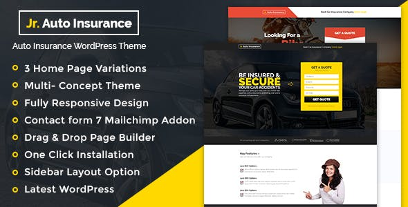 Auto Insurance v1.0.1 - WordPress Theme