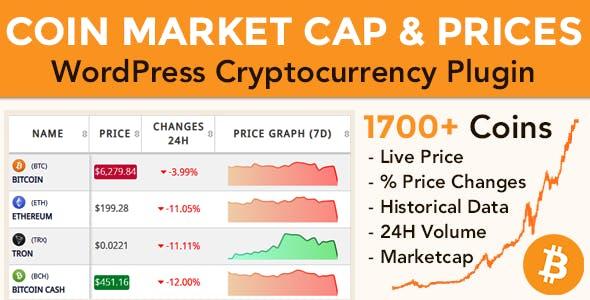 Coin Market Cap & Prices v3.3.1 - WordPress Plugin Free Download