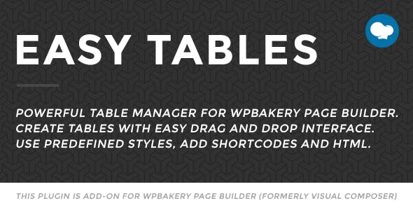 Easy Tables v2.0 - Table Manager for WPBakery Page Builder