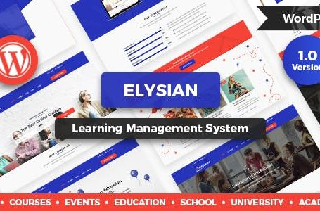 WPlocker-Elysian v1.2.1 - WordPress School Theme + LMS