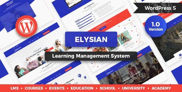 WPlocker-Elysian v1.2.1 - WordPress School Theme + LMS