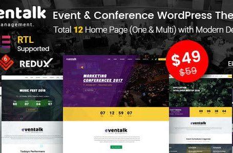 EvenTalk v1.5.3 - Event Conference WordPress Premium Theme Free Download!