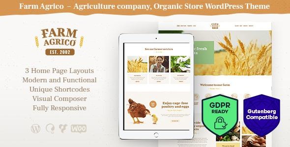 wplocker-Farm Agrico v1.2.1 - Agricultural Business WordPress Theme