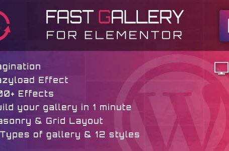 Fast Gallery for Elementor v1.0 - WordPress Plugin