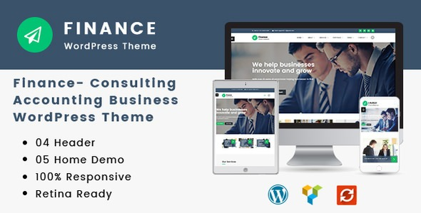 Finance v1.2.8 - Consulting, Accounting WordPress Theme