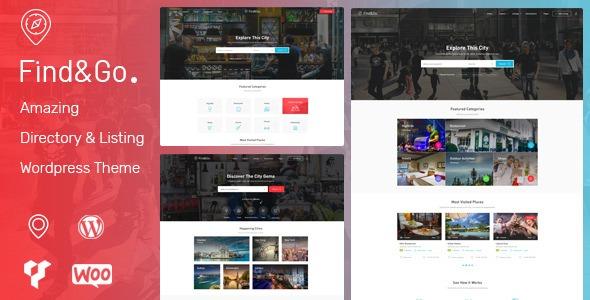 Findgo v1.3.16 - Directory & Listing WordPress Theme