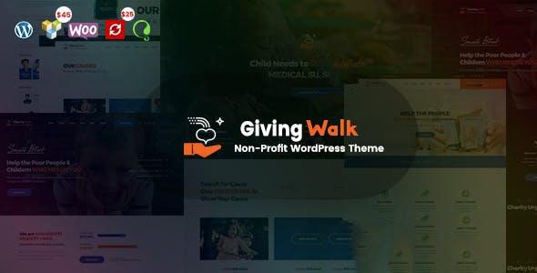 WPlocker-GivingWalk v1.0.1 - Multipurpose Nonprofit WordPress Theme