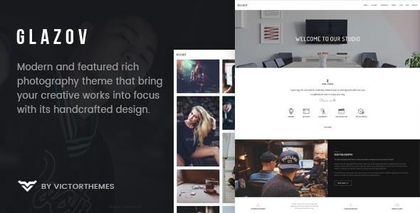 WPlocker-Glazov v1.4 - Photography WordPress Theme