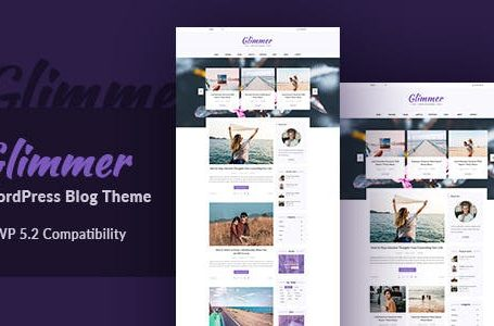 Glimmer is clean content focus Blogging Theme. It has Powerful admin panel, Intricate development and a pack of essential features really makes Glimmer to stand out. It supports all type of post format. It is simple and elegant. Glimmer is suitable for any kind of personal, travel, hobby, life style and tutorial blog etc. Installing and customizing this theme is very easy. All required informations are provided in documentation.