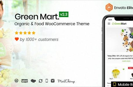 GreenMart v2.3.1 - Organic & Food WooCommerce WordPress Theme