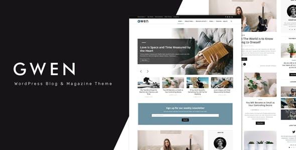 Gwen v1.0 - Creative Personal WordPress Blog Theme