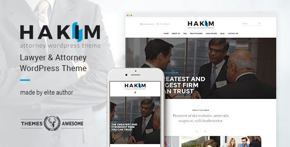 WPlocker-Hakim v1.3 - Attorney and Lawyer WordPress Theme!
