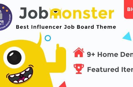 WPlocker-Jobmonster v4.5.2.6 - Job Board WordPress Theme