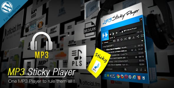 MP3 Sticky Player v5.8 - WordPress Plugin