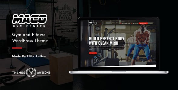 WPlocker-Maco v1.2 - Gym and Fitness WordPress Theme
