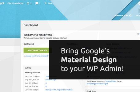 wplocker-Material WP v1.0.3 - Material Design Dashboard Theme