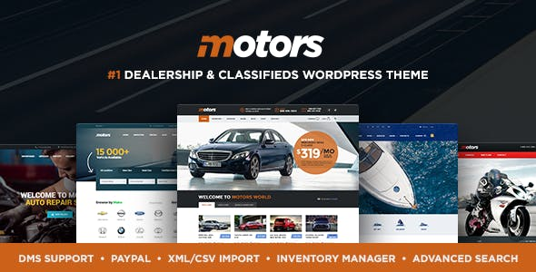 Motors v4.4.5 - Automotive, Cars, Vehicle, Boat Dealership NULLED