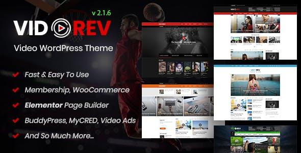 wplocker-VidoRev v2.1.6 - Video WordPress Theme
