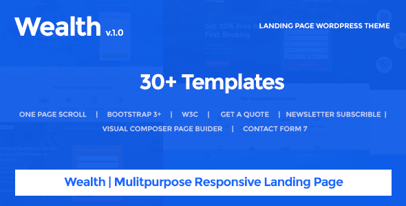 wplocker-Wealth v1.2.8 - Multi-Purpose Landing Page Theme