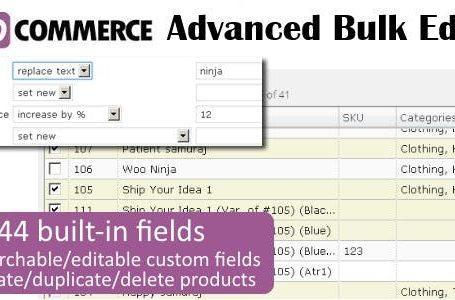 WPlocker-WooCommerce Advanced Bulk Edit v4.4.3 Plugin!