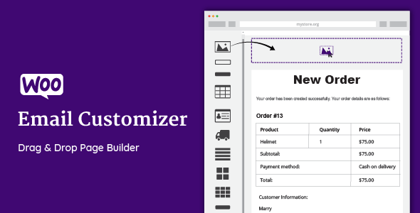 WooCommerce Email Customizer with Drag and Drop v1.5.10