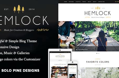 Hemlock v1.8 - A Responsive WordPress Blog Theme