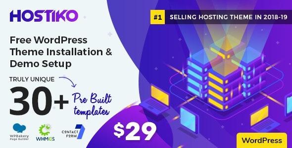 Hostiko v30.0.1 - WHMCS Hosting Theme - WordPress Theme Download