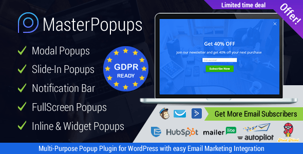 Master Popups v2.8.6 - Popup wordpress plugin free download