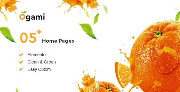 Ogami v1.3- Organic Store & Bakery WordPress Theme Free Download