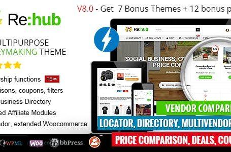 REHub v8.6.1 - e Commerce Wordpress Theme Free Download