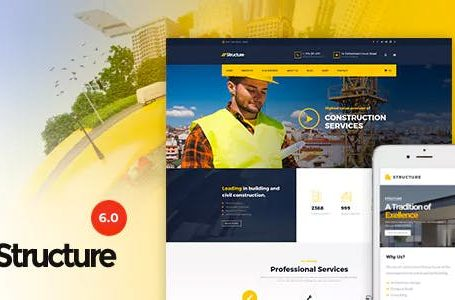 Structure v6.4 - Construction WordPress Theme Free Download