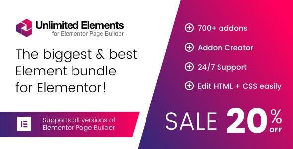Unlimited Elements for Elementor Page Builder v1.3.32 wordpress plugin free download