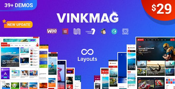 Vinkmag v2.3 wordpress theme free download