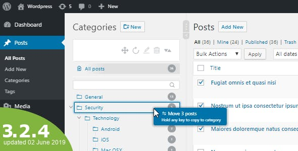 WordPress Real Category Management 3.2.4 - Custom category term order / Tree view-WordPress Plugin