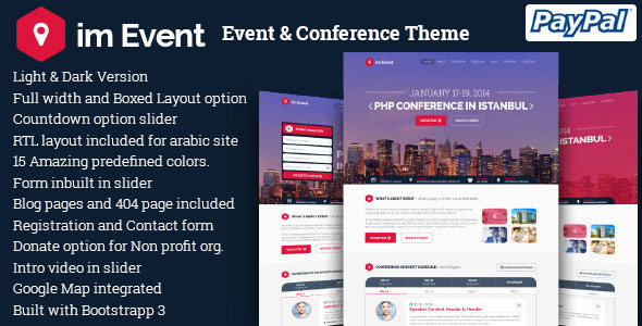im Event v3.2.4 - Event & Conference WordPress Theme